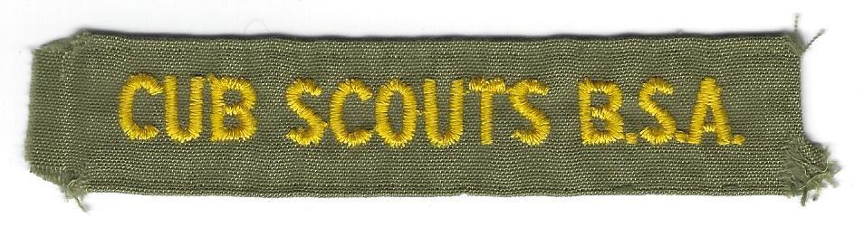 Cub Scouts B.S.A. Pocket Strip