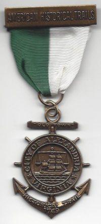 City of Alexandria Virginia Trail Medal