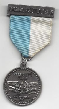 President's Trail Washington D.C. Medal