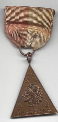 Shabbona TrailMedal 1775 - 1859