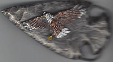 Arrowhead with Flying Eagle Buckle