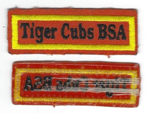 Tiger Cubs BSA Pocket Strip