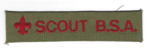 Scout B.S.A. Pocket Strip