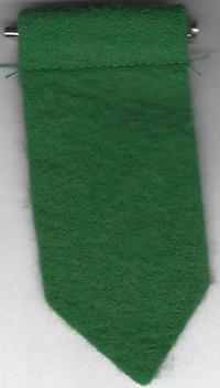 Girl Scout Insignia Tab Pin Felt Green