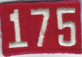 Unit Numerals 175 Fully Embroidered