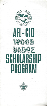 AFL-CIO Wood Badge Scholarship Program 1986